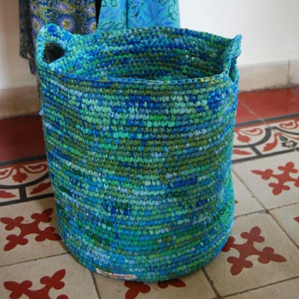 nachhaltiger konsum aufbewahrungskorb häkeln plastiktüten