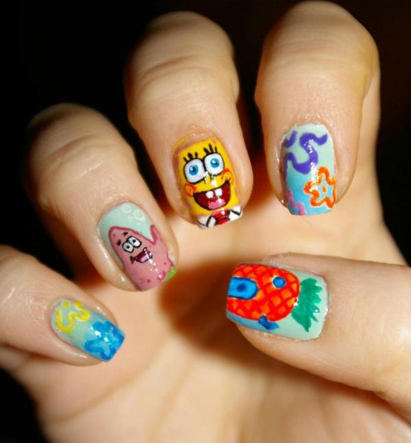 nagellack ideen desislava hadzhiyska Sponge Bob