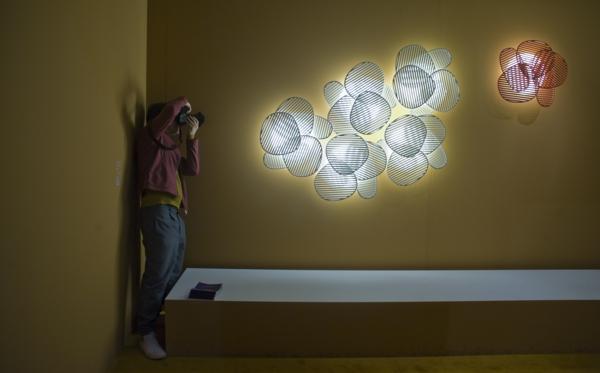 nuage wohnzimmerlampe 3d leuchten design Philippe Nigro