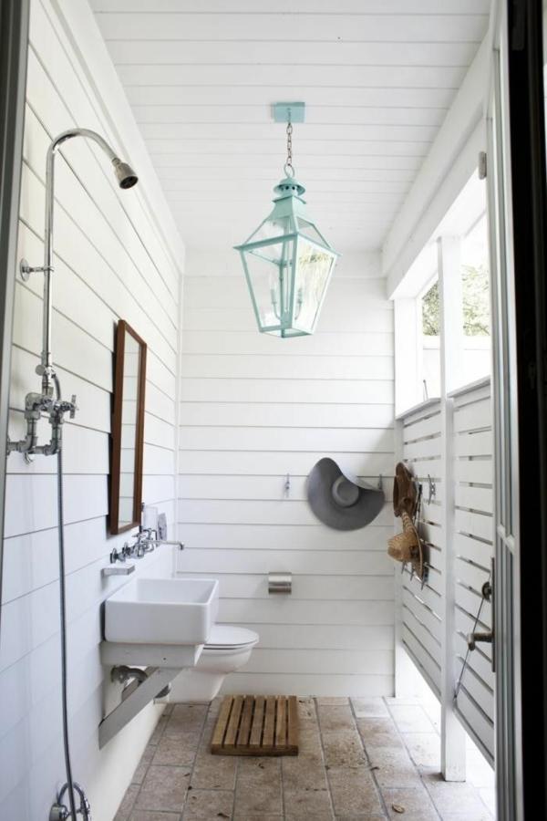 outdoor dusche badezimmer gestalten sommer ideen