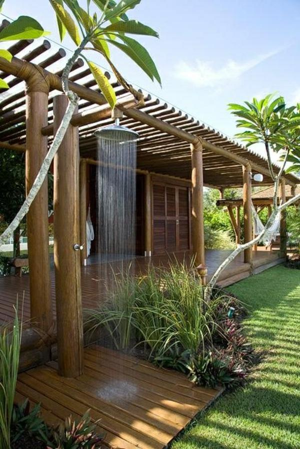 outdoor dusche sommer badezimmer im hinterhof
