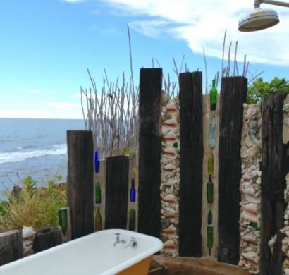 outdoor dusche für erfrischende momente im sommer, Garten und Bauen
