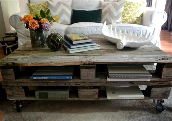 paletten tisch couchtisch wohnzimmer weißes sofa