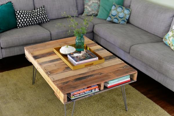 der paletten tisch - etwas rustikal, aber trotzdem attraktiv - Tisch Für Wohnzimmer