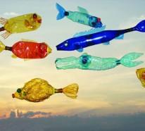 Alte Pet Flaschen Werden Zu Kreativen Plastikfiguren