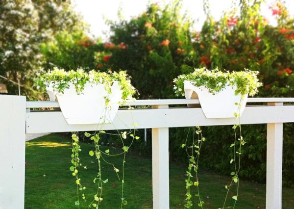 pflanzkübel blumentöpfe weiß plastik