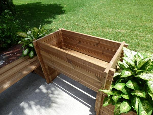 pflanzkübel gartenbank pflanzenbehälter übertöpfe