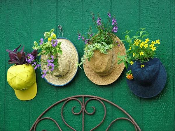 pflanztöpfe alte hüte selber machen