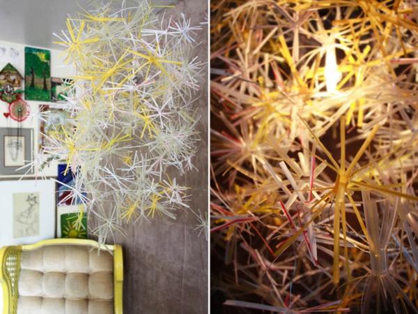 plastik kunst strohhalme hängedekoration