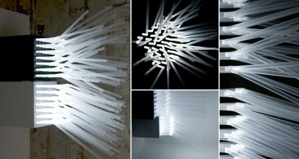 plastik kunst strohhalme led leuchten