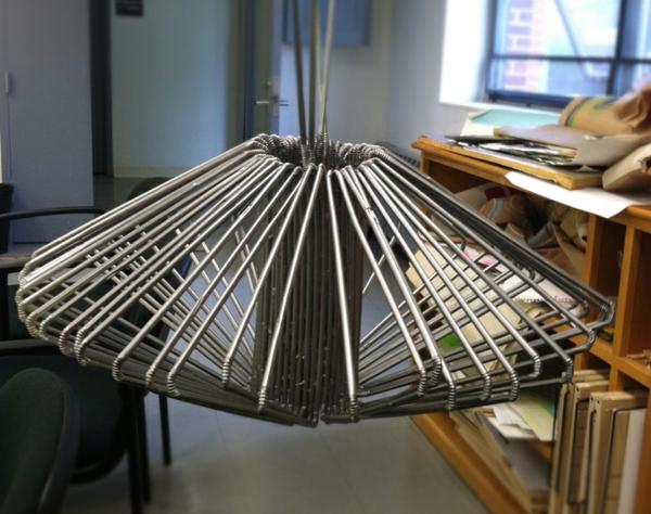 plastik kunst strohhalme metallener glanz kronleuchter