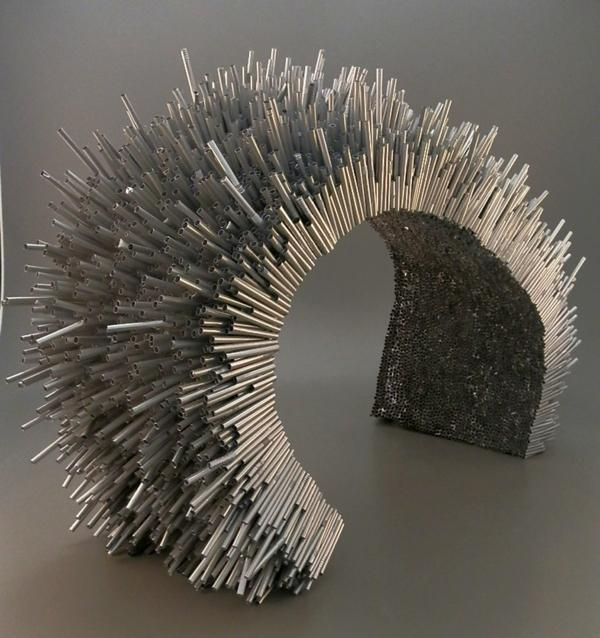 plastik kunst strohhalme modern brücke