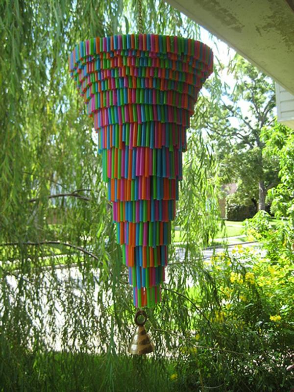 plastik kunst strohhalme windspiel
