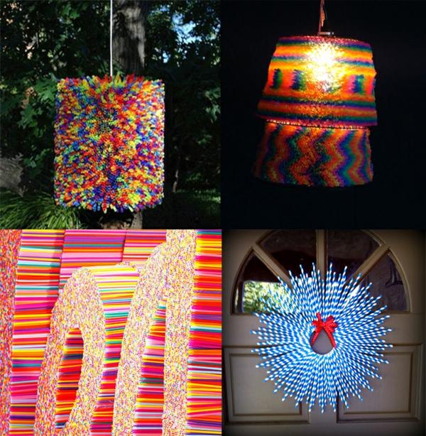plastik kunst strohhalme wohnaccessoires