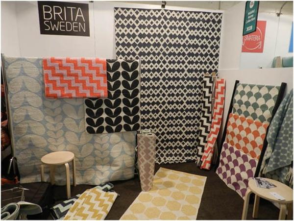 plastikteppich skandinavisches design designer teppiche brita sweden