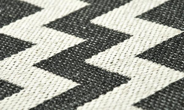 plastmatta gunnel muster schwarz plastikteppich brita sweden designer teppiche