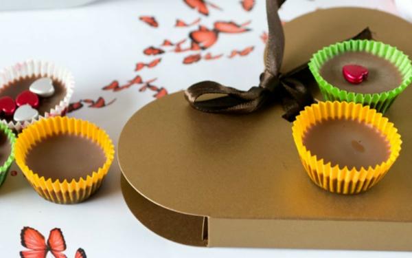 pralinen selber machen cupcakes liebesgeschenk