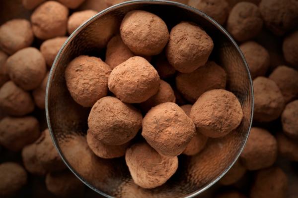 pralinen selber machen trüffel kakaopulver