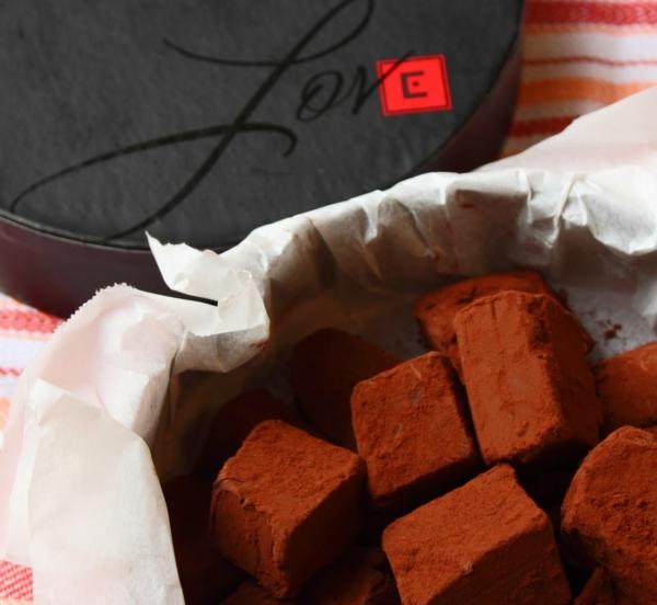 pralinen selber machen würfel kakao