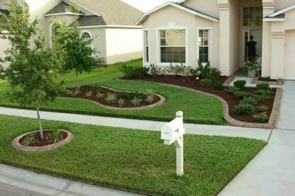 rasen pflanzenbeet kleinen vorgarten gestalten - Kleinen Vorgarten Gestalten