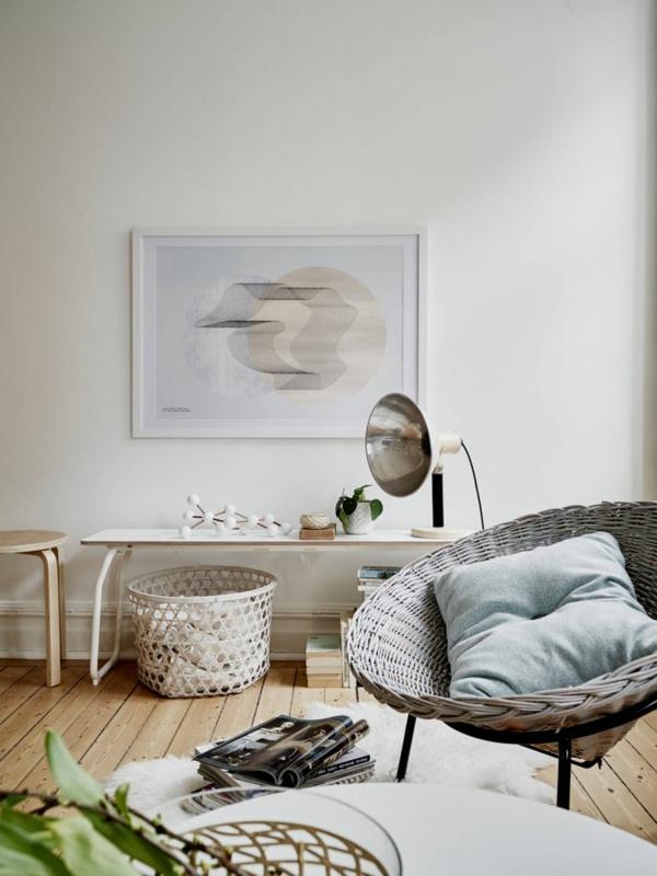 rattanmöbel einrichtung wohnzimmer flechtmöbel design