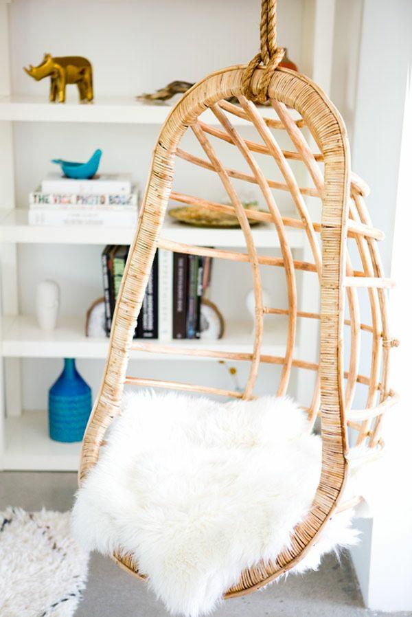 rattanmöbel einrichtung wohnzimmer möbel hängekorbsessel rattan