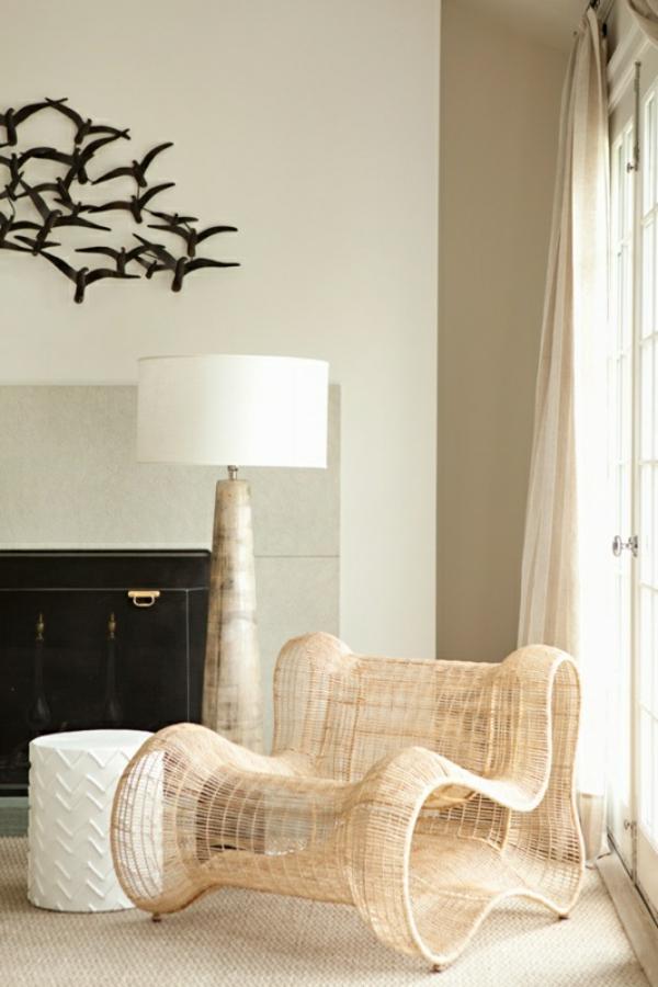 rattanmöbel einrichtung wohnzimmer möbel rattan designer sessel