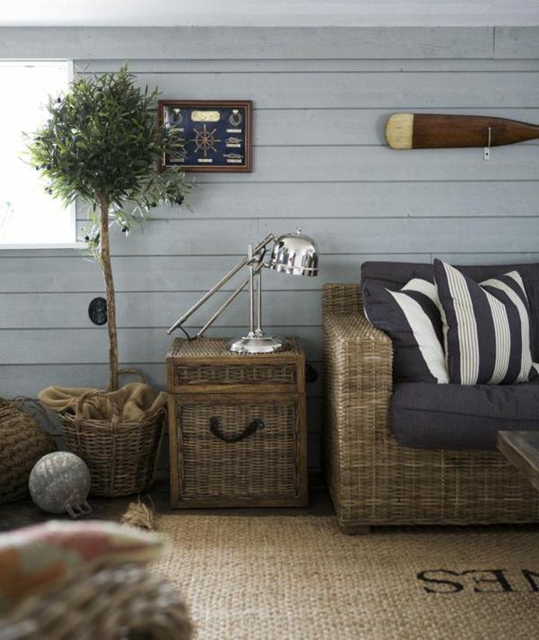 flechtmöbel einrichtung wohnzimmer möbel rattanteppich