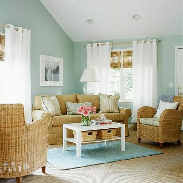 schicke rattanmöbel peppen das wohnzimmer-interieur auf, Wohnzimmer ideen