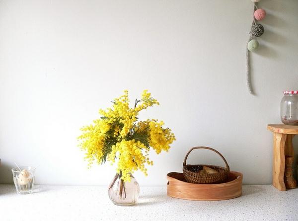 schöne dekoideen akazie momose blumenvase