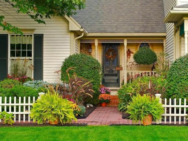 schönen vorgarten gestalten vorgartengestaltung pflanzen