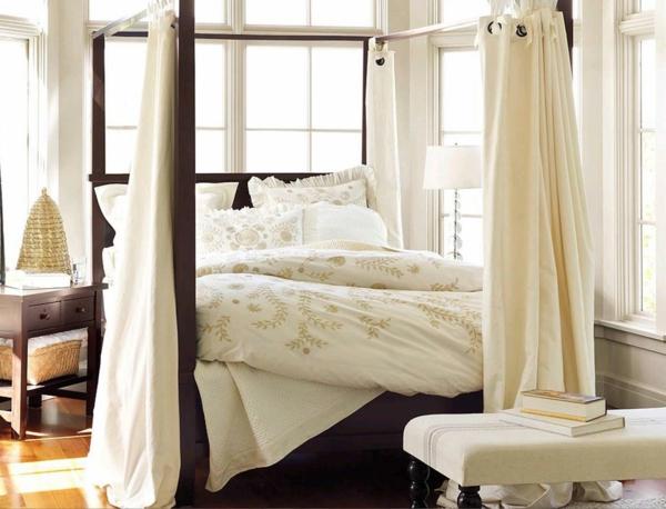 schlafzimmer design betthimmel schöne dekoideen