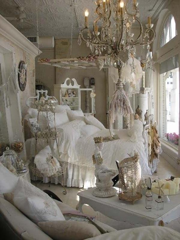 schlafzimmer design shabby chic einrichtungsstil weiß