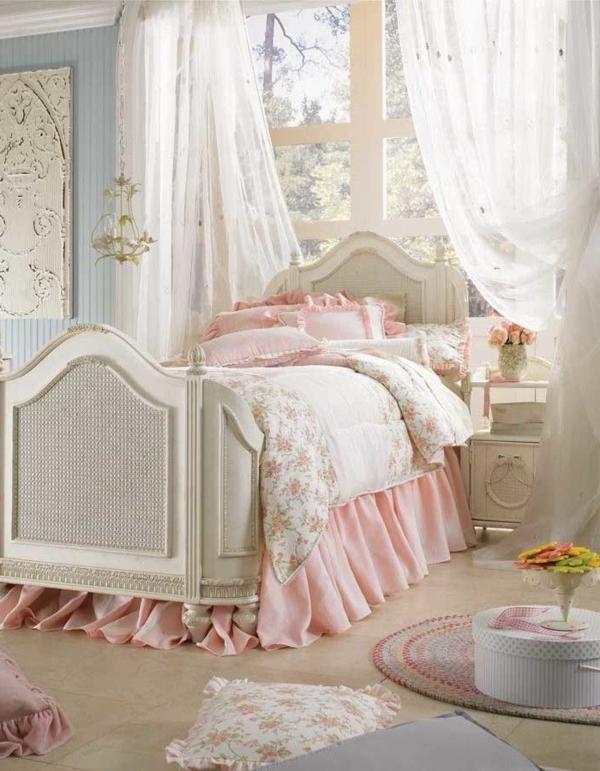 schlafzimmer design shabby chic stil weiblich