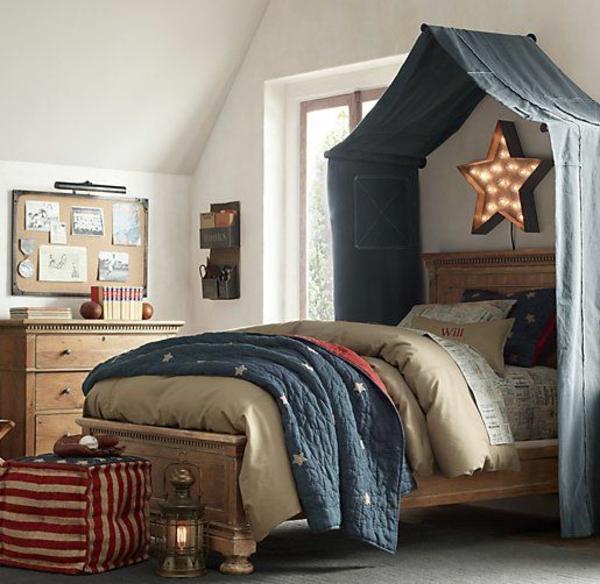 schlafzimmer design betthimmel tolle wandleuchte schöne wohnideen