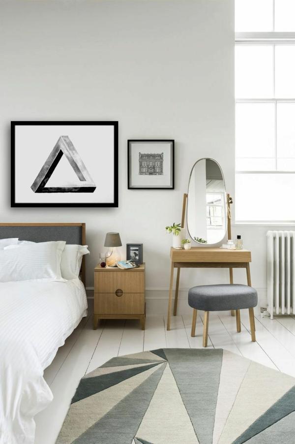 schminktisch designs f r die eigene feminine ecke im zimmer. Black Bedroom Furniture Sets. Home Design Ideas