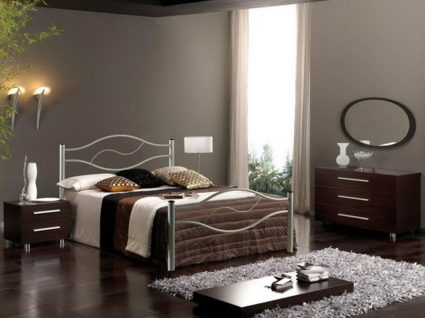 33 . Schlafzimmer Neu Gestalten Gemütliche Atmosphäre Mit Dunklen ...