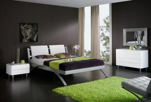 Schlafzimmer Neu Gestalten Graue Wände Minzgrün