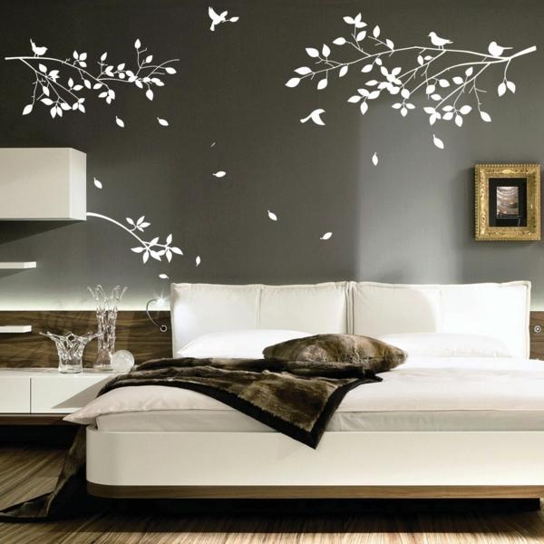 Schlafzimmer Neu Gestalten Weiße Wandtattoos