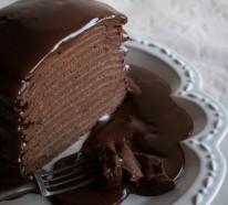 Verführerische Schokoladenkuchen, die den Appetit wecken