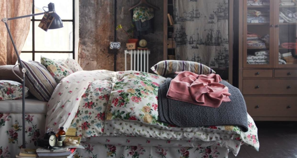 shabby chic deko schlafzimmer dekorieren florale elemente