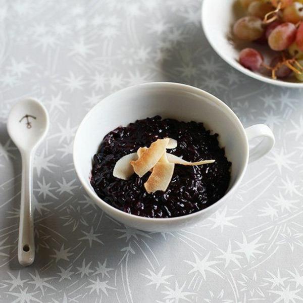 speisen rezepte schwarzer reis pudding