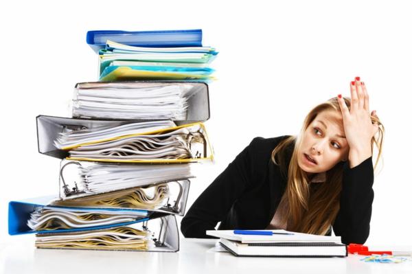 stress am arbeitsplatz ordner aufgaben