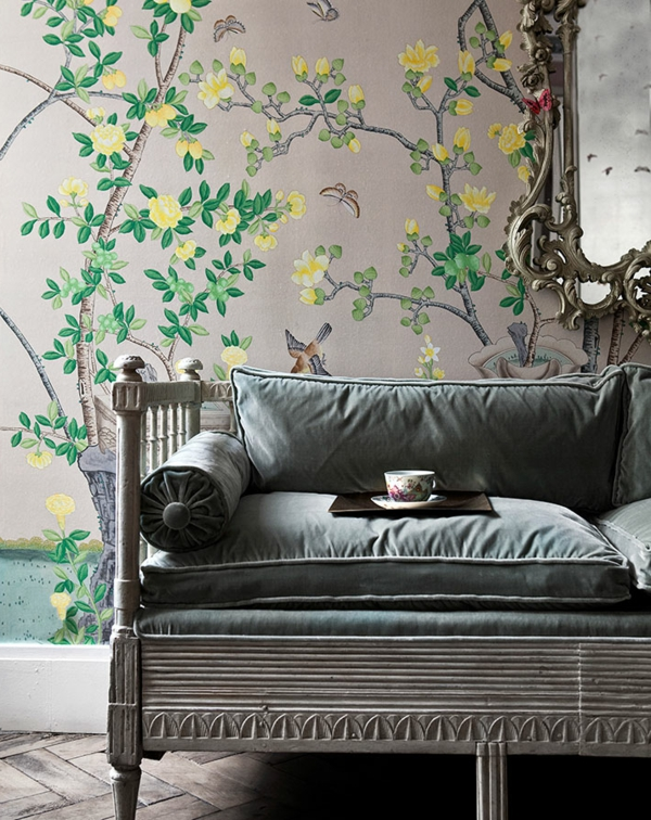 tapete mit muster de Gournay wandtapete