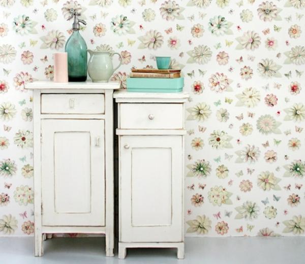 tapeten muster studio ditte floral retro frisch