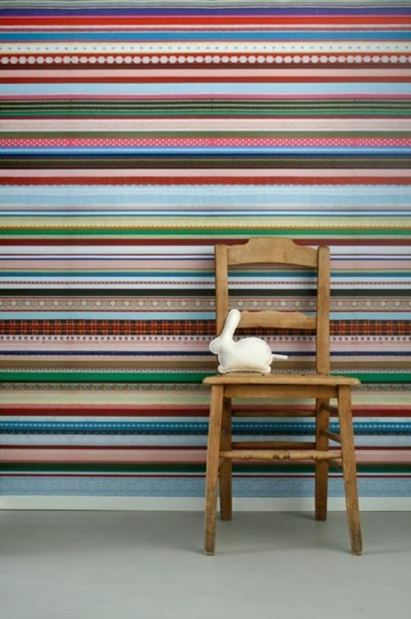 tapeten muster studio ditte streifen farbig