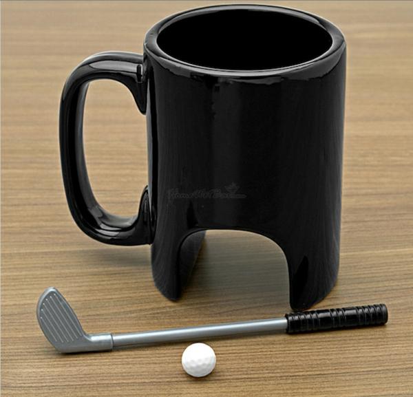 kaffeetasse bilder schwarz golf liebhaber