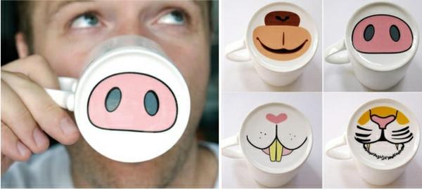 tasse kaffee bilder weiß tier gesicht