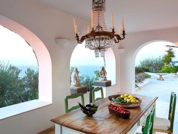 traumhaus insel capri designer Francesco della Femina außenbereich gestalten essbereich