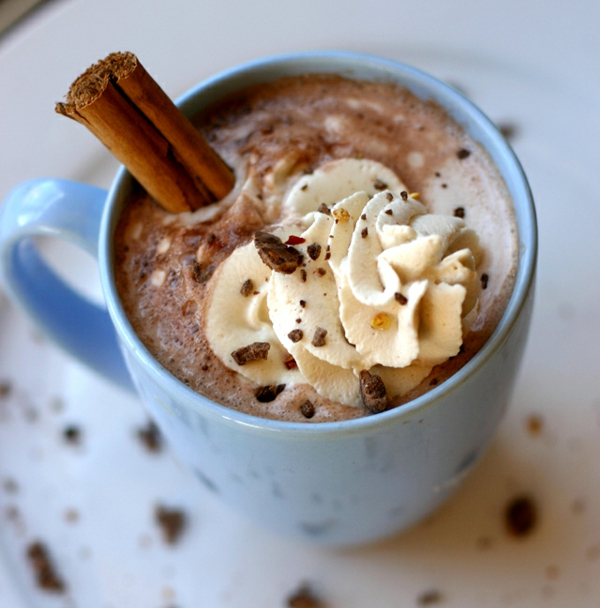 vegane schokolade heißer kakao zimt